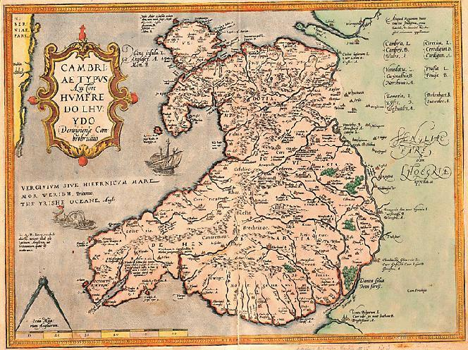 The Map Shop London.A 16th Century Map Of Wales